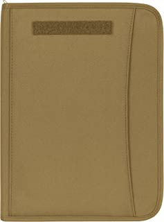Coyote Military Zippered Padfolio
