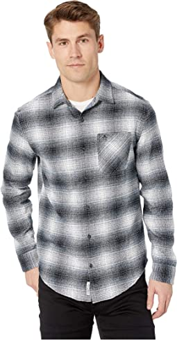 Long Sleeve Woven Plaid Flannel