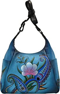 Anna By Anuschka Handpainted Large Multi Pocket Hobo