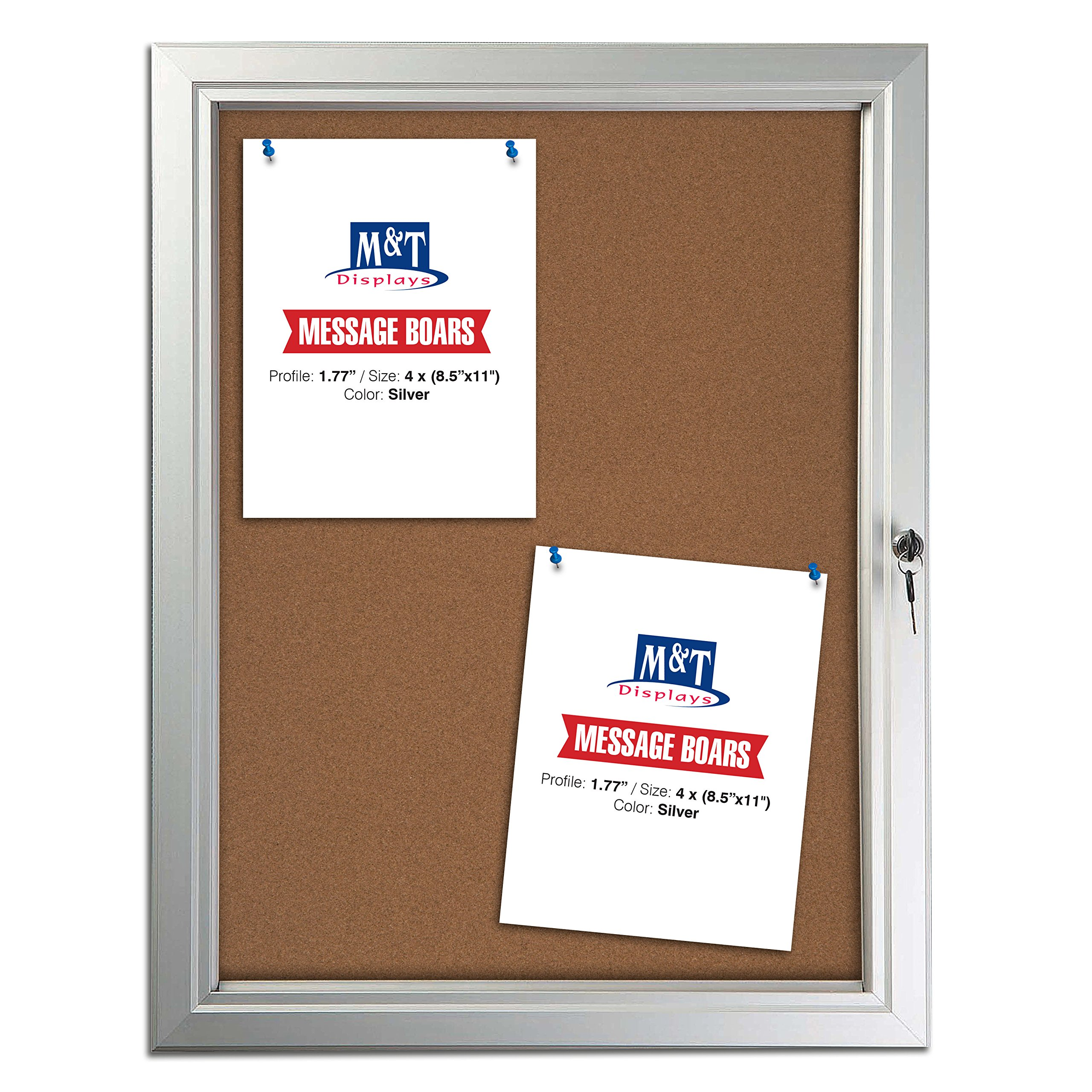 DisplaysMarket Enclosed Bulletin Weatherproof Aluminum