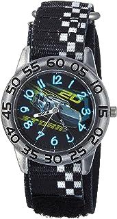 DISNEY Boys Cars 3 Jackson Analog-Quartz Watch with Nylon Strap, Black, 15 (Model: WDS000290