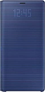 Samsung Official Galaxy Note9 Case, LED View Wallet Cover - Blue