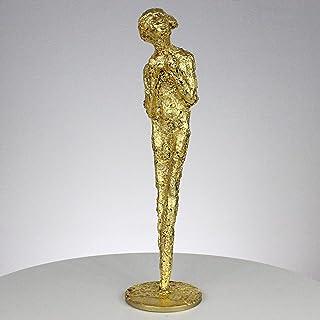 Musa hoja de oro de acero CLVIII escultura encaje de metal - Philippe Buil