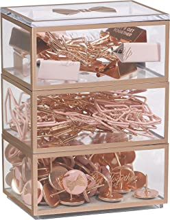 Ted Baker | Stationery Stack | Includes Pins Clips and Paperclips | Three Tiers