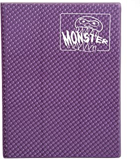Monster Binder - 9 Pocket Trading Card Album - Holofoil Purple (Anti-Theft Pockets Hold 360+ Cards)