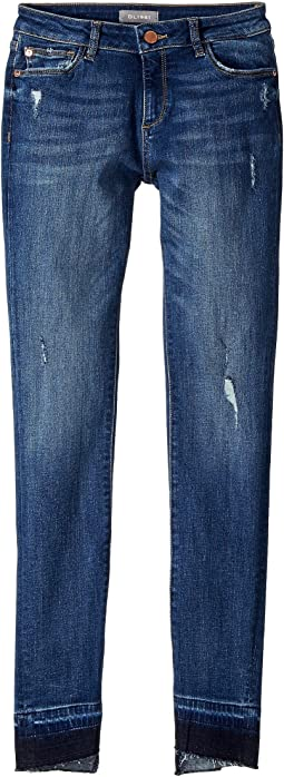 Chloe Dark Wash Distressed Skinny with Released Hem in Preston (Big Kids)