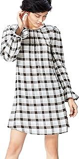 Marca Amazon - find. Vestido Corto Camisero Mujer