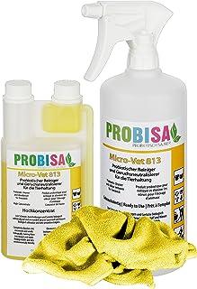 Neutralizadores de olor spray (Probisa Micro-Vet 813) de la orina del gato, perro y los roedores olores - y bio limpiador concentrado 500ml rendimiento 25 litros listos para usar asesino de olor / Removedor de olor