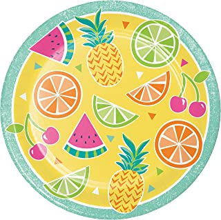 Creative Converting 335371 Summer Fruit Paper Plates, 9
