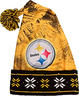 Pittsburgh Steelers Light Up Santa Hat