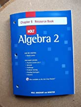 Holt Algebra 2: Resource Book with Answers: Chapter 9