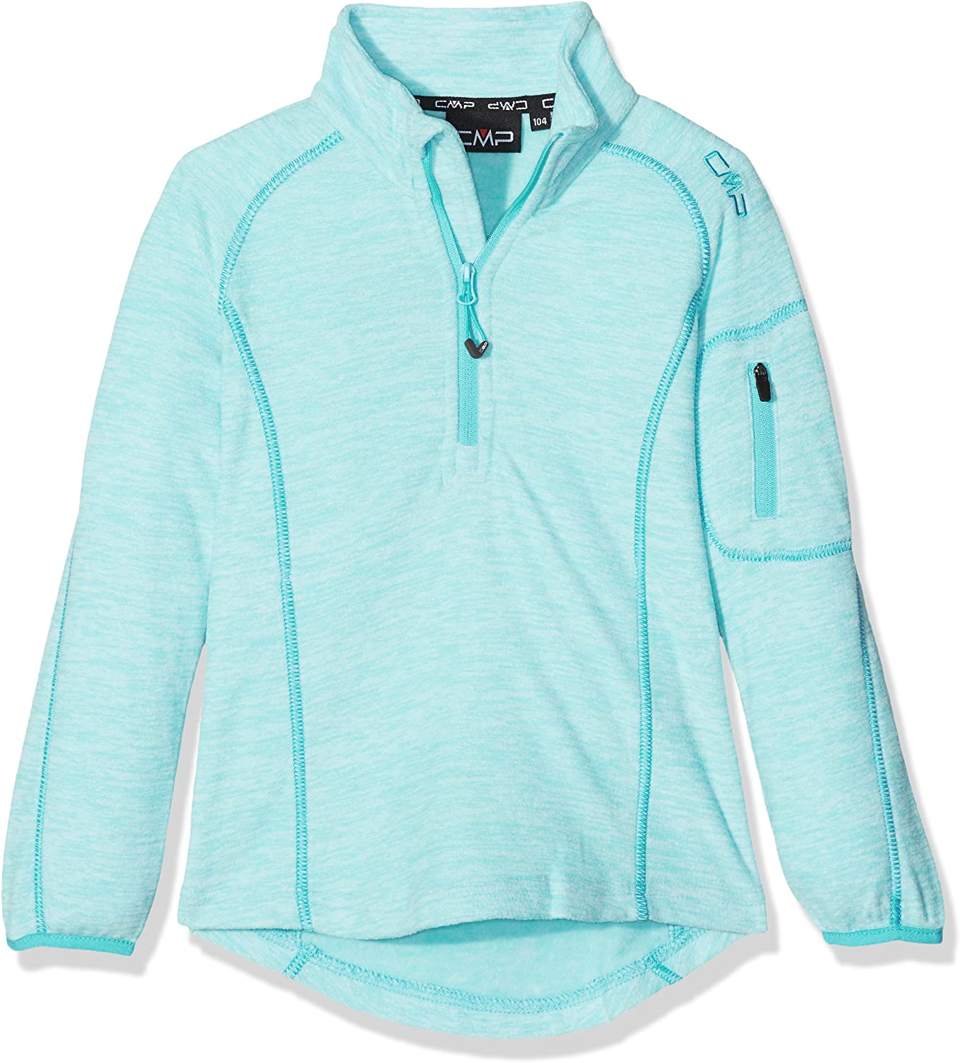 (98 (EU), green Acqua M.) - CMP Girls 'Fleece Functional Turtle Neck Sweater, Girls, Fleeceshirt Funktions Rolli