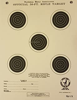 Official NRA Target, TQ-1/5, 50 Ft. Rifle, Pack of 100