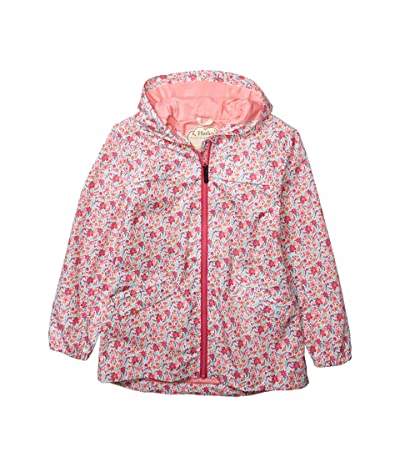 Hatley Kids Summer Garden Microfiber Rain Jacket (Toddler/Little Kids/Big Kids) (White) Girl