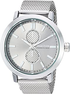 Kenneth Cole REACTION Men's Quartz Metal and Leather Casual Watch ( RK50098010/09)