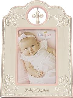 DEMDACO Our Baby Boy Metallic Blue 9 x 7.5 Glossy Ceramic Tabletop Photo Frame