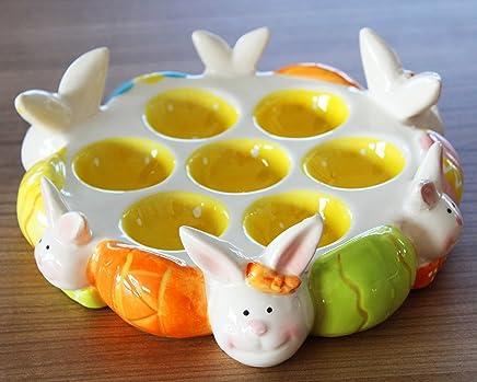 Preisvergleich für Unbekannt Jean Products Eierplatte Eierteller Eierhalter für 7 Eier Servierplatte für Eier