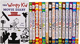 Diary of a Wimpy Kid 16 Books Collection Set by Jeff Kinney (The Meltdown & Wrecking Ball & Movie Diary [Hardcover])