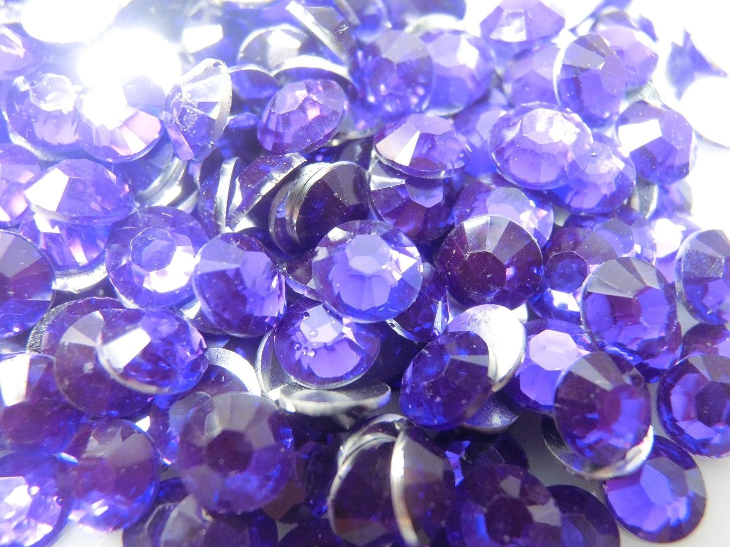 単に関税接続詞【ラインストーン77】??????????? 紫(4mm (約300粒))