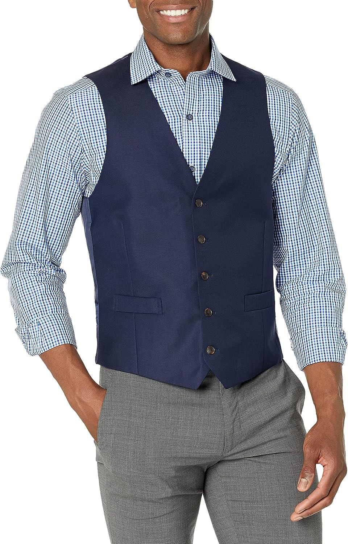 Amazon Brand - BUTTONED DOWN Men's Tailored Fit Super 110 Italian Wool Suit Vest