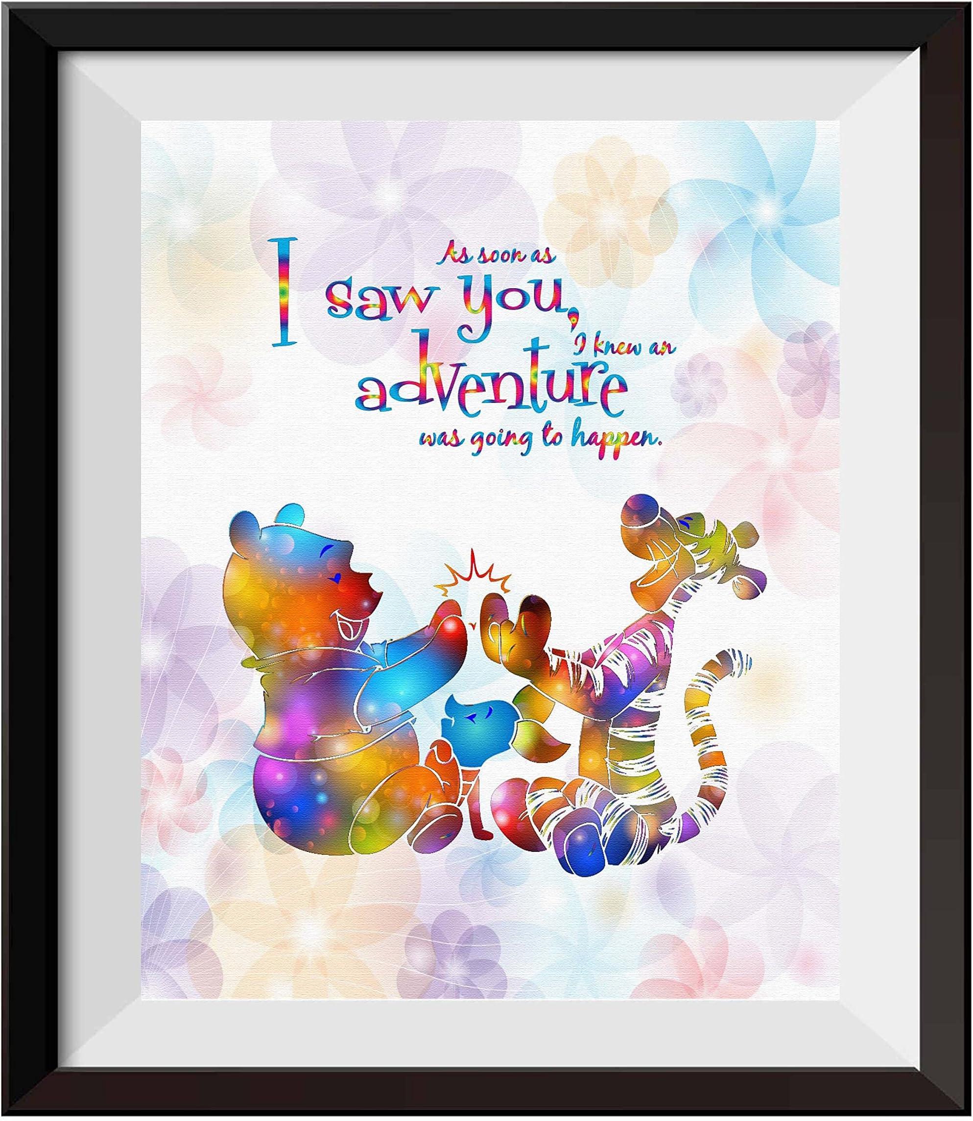 Winnie The Pooh Disney Art Print Friendship Quote