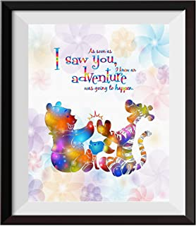Uhomate Nursery Decor Winnie The Pooh Quotes Winnie Pooh Home Canvas Prints Wall Art Anniversary Gifts Baby Gift Inspirational Quotes Wall Decor Living Room Bedroom Artwork C094 (8X10)