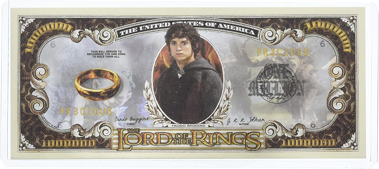 Lord of The Rings Million Dollar Bill in Collector Grade Currency Holder