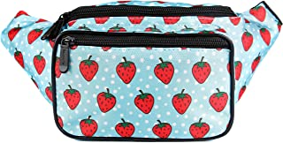 SoJourner Bum Bag Fanny Pack Waist Bag Strawberry | for women, men and kids | cute fits small medium large