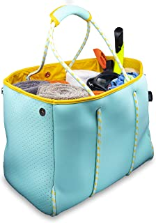 Nordic By Nature Large Designer Beach Bag Tote For Women, Men And Kids | Versatile Pool Bag With Zippered Pockets | Room F...