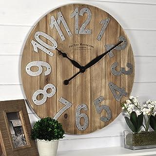 "FirsTime & Co. Slat Wood Wall Clock, 22.5"", Tan"