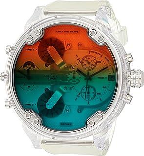 ساعة مستر دادي 2.0 كرونوغراف للرجال من ديزل، DZ7427 - ابيض