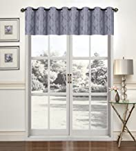 ستارة نافذة متدلية ترشيح الضوء من United Curtain CHANVALSIL Chandler مقاس 137.76 سم × 45.72 سم، فضي