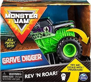 Monster Jam Official Grave Digger Rev 'N Roar Monster Truck, 1:43 Scale