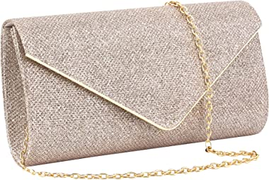 Gabrine Glänzende Pailletten-Abendtasche für Damen, Handtasche, Clutch, für Hochzeit, Party, Abschlussball