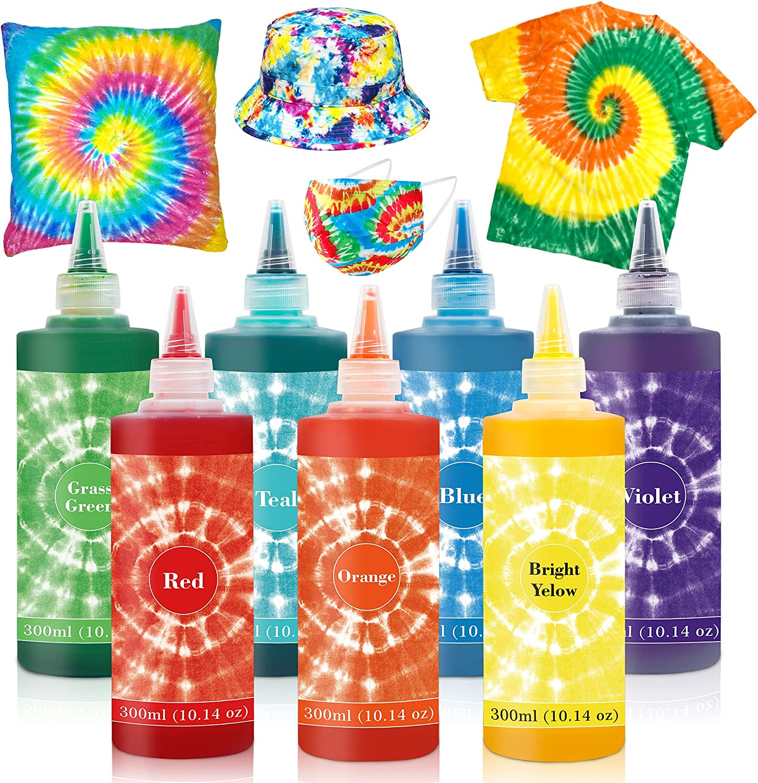 7 Colors Tie Dye Popular standard Kit 10.14oz F Gorgeous Jumbo-Size Fabric Family for
