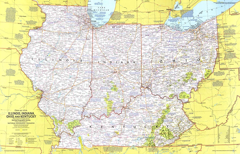 National Geographic: Illinois Indiana Super 1 year warranty beauty product restock quality top Ohio - Hi Kentucky 1977