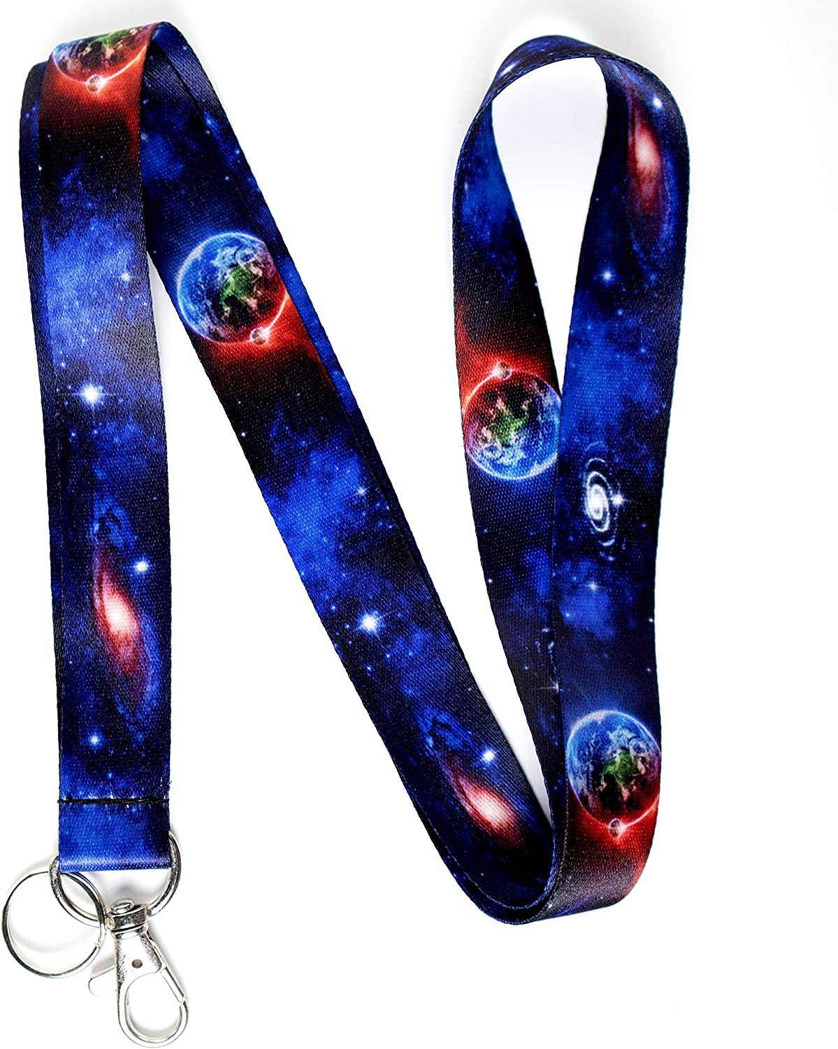Galaxy Themed Lanyard Keychain - Space ID Detroit Mall K for Inventory cleanup selling sale