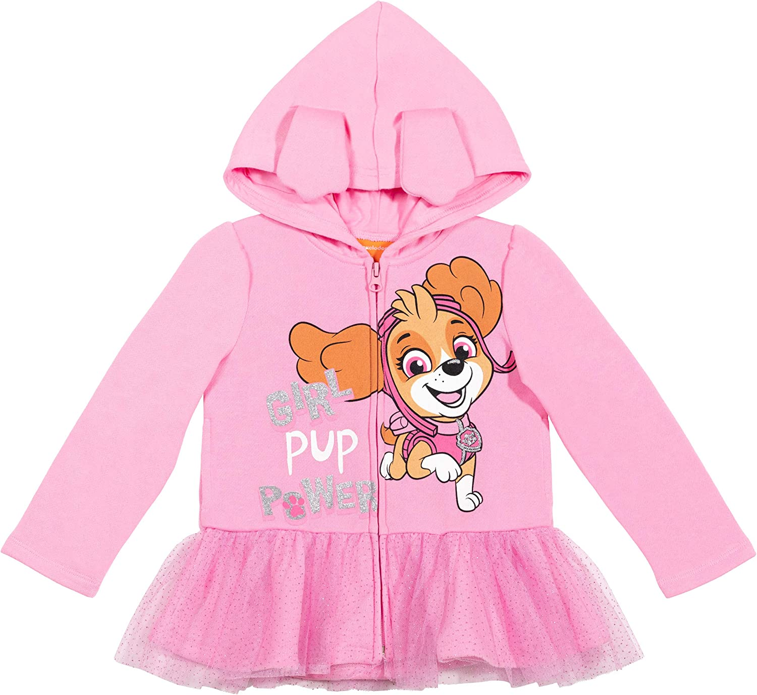 Nickelodeon Paw Patrol Outlet SALE Skye Cosplay Recommended Tulle Hoodie Zip-up with Ruf