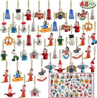 JOYIN Wooden Mini Christmas Ornaments Set of 48 Piece