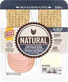 Oscar Mayer Natural Uncured Ham & Monterey Jack Meat & Cheese Plate (3.3 oz Tray)
