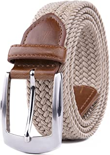 Woven Stretchy Braided Belts for Men & Women, Golf Casual Belt