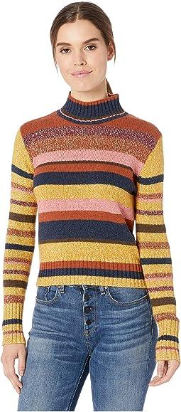 Long Sleeve Cropped Mock Neck Sweater