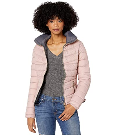 YMI Snobbish Reversible Puffer Jacket (Mauve/Charcoal) Women