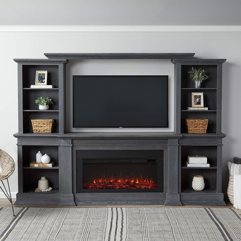 本物 Real ご予約品 Flame Monte Vista Electric Gray Fireplace Antique Media