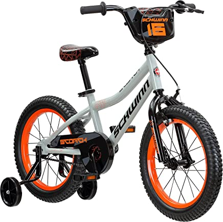 1cc46bd4385 Schwinn Scorch Boy's Bike with Training Wheels, 16