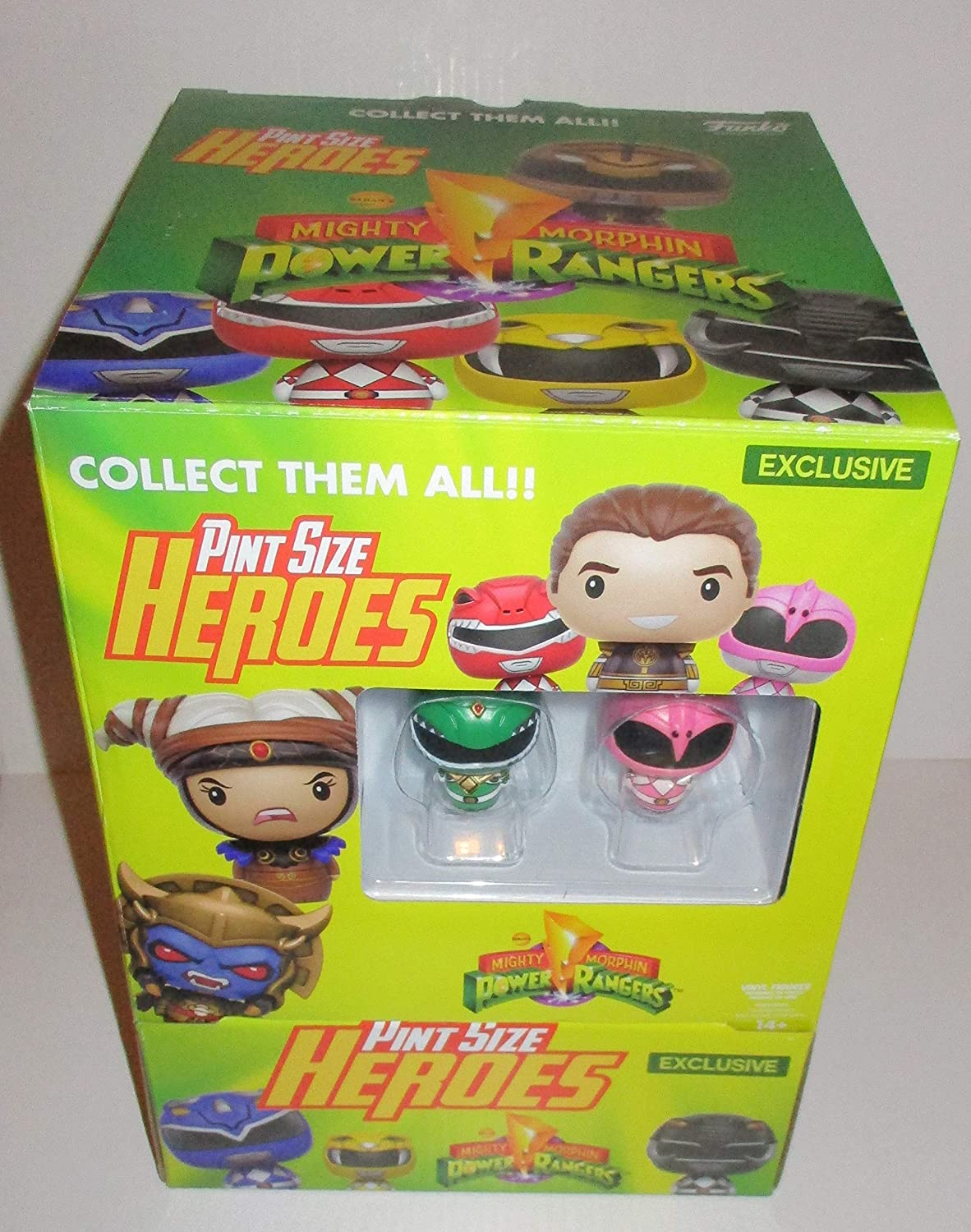 24 x Funko 12340 Pint Sized Heroes  Mighty Morphin Power Rangers Figures (Full CDU of 24 Individual Blind Bags inc Exclusive characters)