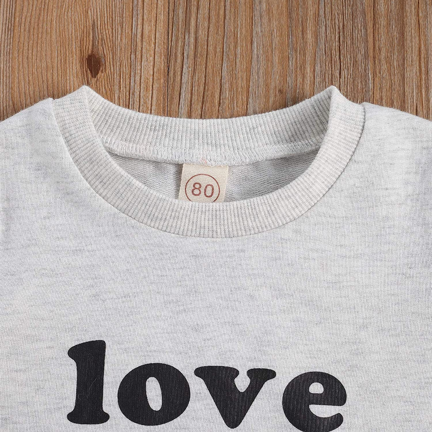 Toddler Baby Boy Girl Valentine 's Day Sweatshirt Love You More Pullover Tops Casual Unisex Baby Clothes