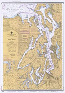 Map - Admiralty Inlet And Puget Sound, WA, 1983 Nautical NOAA Chart - Vintage Wall Art - 44in x 63in