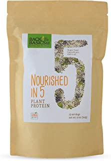 5 Superfood Ingredients – Organic Blend of 5 Ground Plant Seeds: Plant Protein from- Sunflower, Pumpkin, White Quinoa, Black Chia, and Hemp Seeds - Make Healthy Snacks, Smoothies, and Cooking Recipes