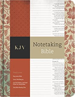 KJV Notetaking Bible, Red Floral